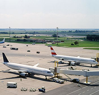 Planes at an airport