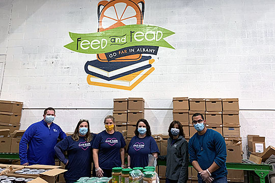 Volunteers at Feed and Read, October 2020